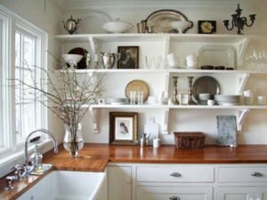 Farm House Charm Kitchen Shelving