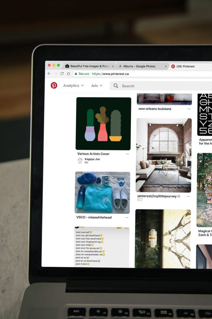 using pinterest to create a moodboard